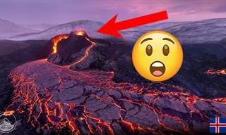 התפרצות הר הגעש פאגראדלס באיסלנד