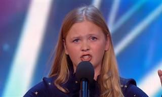 הילדה הקטנה הזו מפיקה מגרונה קול של מלאכים!