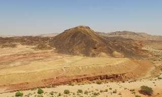 הנוף הייחודי של מכתש רמון ממעוף הציפור