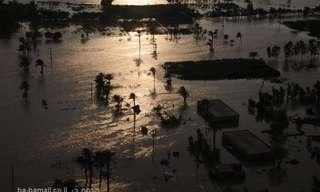 תמונות מדהימות מהשטפונות בפקיסטן