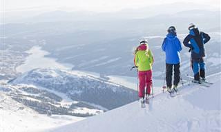 10 אתרי הסקי המרהיבים ביותר בעולם