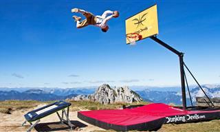 להטביע על גג העולם: תחרות הטבעות אקסטרימית כזו טרם ראיתם!