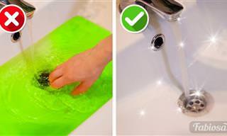 סרטון שימושי עם 10 טיפים לפתיחת סתימה בכיור