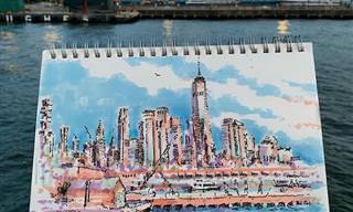 15 ציורים עירוניים יפהפיים של העיר ניו יורק