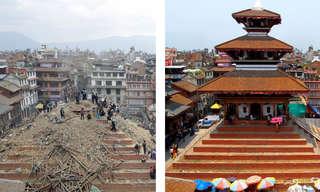 נפאל - תמונות לפני ואחרי רעידת האדמה