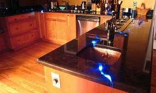 נחל כחול במטבח - רעיון עיצובי יפהפה!
