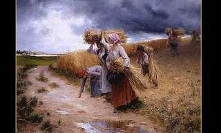 החיים בכפר מעיניו של הצייר