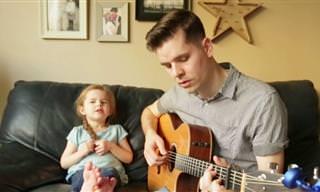 """אב וביתו בת ה-4 בביצוע מרגש לשיר מ""""צעצוע של סיפור"""""""