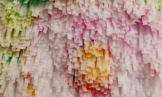 אמנות מרצועות נייר גרוס