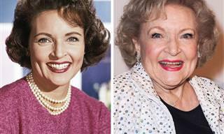 11 תמונות מפעם ומהיום של מפורסמים שנושקים לגיל 100