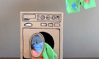 22 יצירות עם ילדים מקופסת קרטון