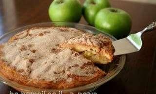 עוגת תפוחים פשוטה ונפלאה עם הקפה בבוקר