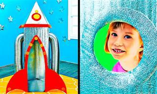 סרטון הדרכה להכנת משחקים נפלאים מקרטון לילדים