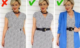 סטייליסטית מראה איך להימנע מטעויות לבוש ולשפר את המראה שלכן