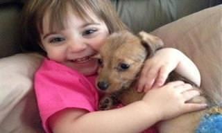 20 תמונות מקסימות של ילדים מחבקים בעלי חיים