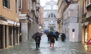 13 תמונות שמספרות את סיפורה של העיר ונציה אחרי אקווה אלטה