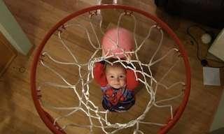 צפוי לו עתיד מזהיר - כוכב כדורסל בן שנתיים