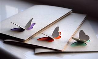 למדו להכין בעצמכם כרטיסי ברכה בתלת ממד בשיטת הקיריגמי