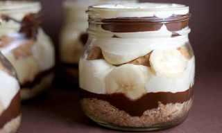פודינג בצנצנת: שוקולד, בננה וחמאת בוטנים!