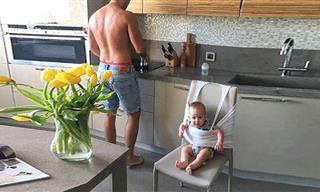 כשתינוקות ואבות משחקים קורים דברים חמודים ומצחיקים במיוחד!