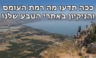 """""""בשביל ישראל"""": ככה תדעו מה רמת העומס והניקיון באתרי טבע ברחבי הארץ"""