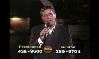 ג'רי לואיס בביצוע מרגש לשיר You'll Never Walk Alone משנת 1987