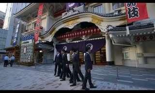 ריקוד יפני מהפנט ברחובות טוקיו
