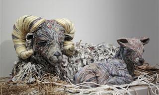 פסלי החיות המדהימים של צ'יה היטוטסויאמה