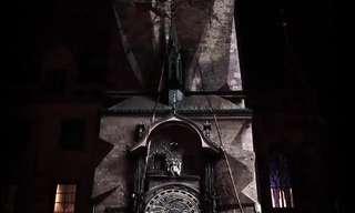 מופע אור-קולי במגדל השעון של פראג
