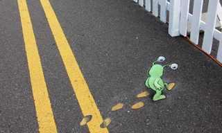 אמנות רחוב בגיר - חמוד ומשעשע!