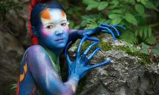אמנות מלאת חיים - פסטיבל ציורי גוף באוסטריה