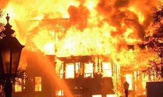 שריפה בבניין - בדיחה מצחיקה!
