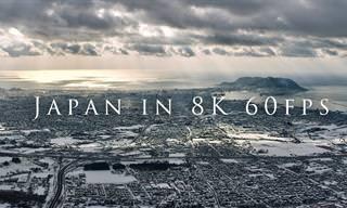 הסרטון הזה ייקח אתכם לטיסה מעל ערי יפן ונופיה היפים באיכות 8K מתקדמת
