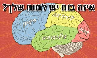 בחן את עצמך: איזה כוח יש למוח <b>שלך</b>, ומה זה אומר עליך?