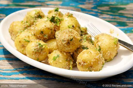 תפוחי אדמה בציפוי שקדים ושמן שקדים