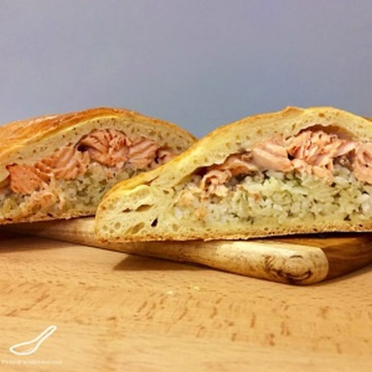מתכון ללחם ממולא בדג סלמון טרי