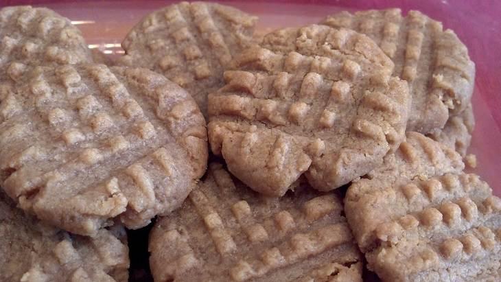 מתכון לעוגיות חמאת בוטנים מופחתות קלוריות