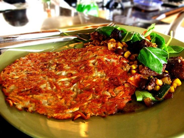 מתכון ללביבת ירקות לארוחת בוקר