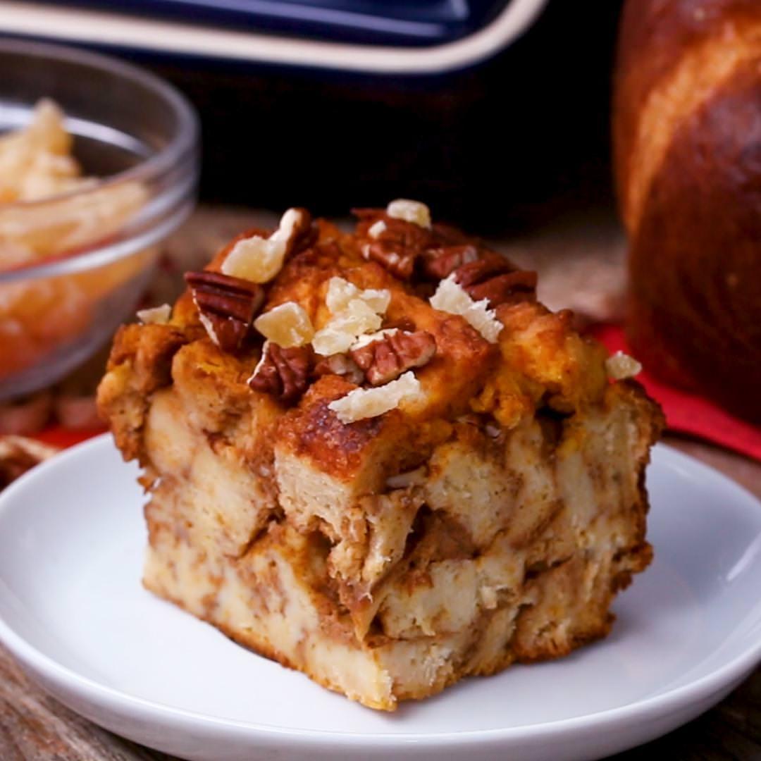 מתכון לפודינג לחם בטעם פאי דלעת