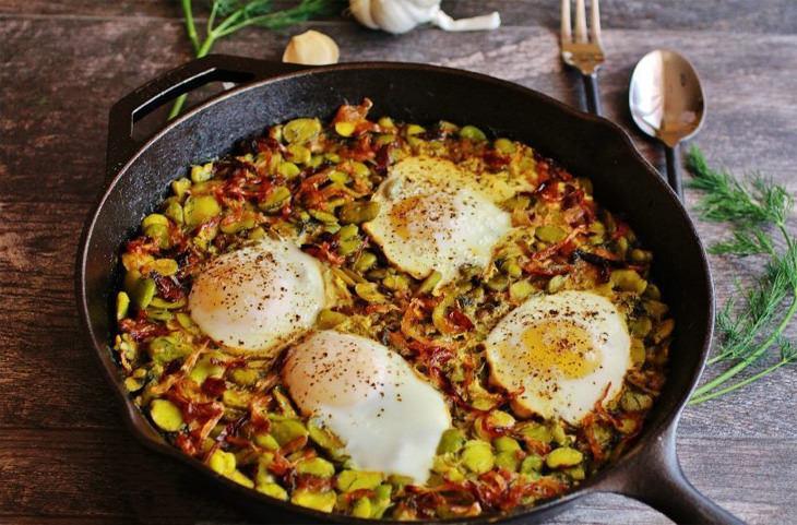 מתכון לתבשיל פול איראני עם ביצים