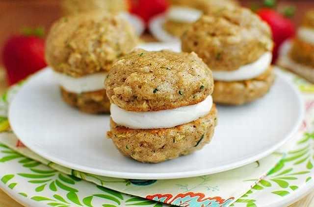 מתכון לעוגיות זוקיני ממולאות קרם שמנת