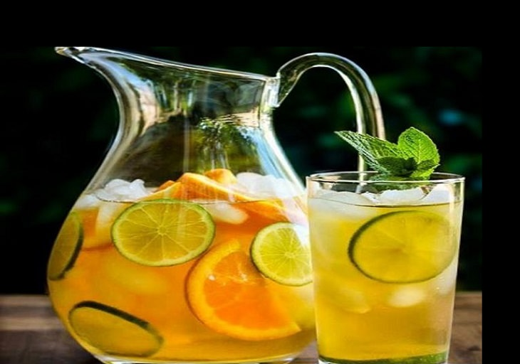 מתכון למשקה תה קר הדרים ואננס
