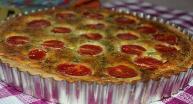 מתכון לקיש גבינות ועגבניות שרי של יהודית כהן מורחיים