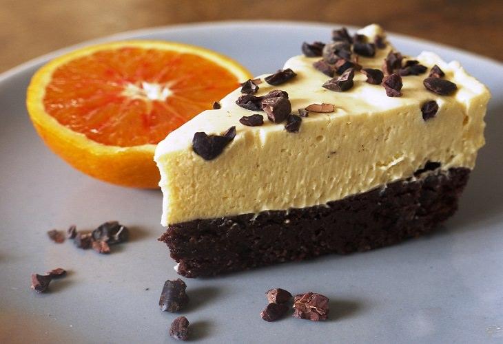 מתכון לעוגת פאדג' שוקולד ומוס תפוזים