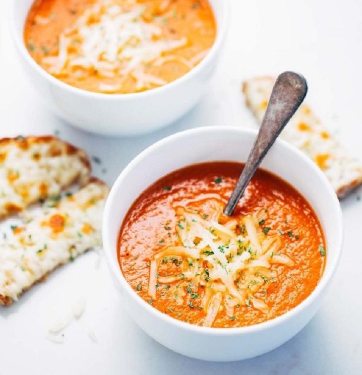 מתכון למרק עגבניות ביתי פשוט