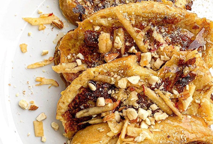 מתכון לפרנץ' טוסט בטעם עוגת תפוחי עץ