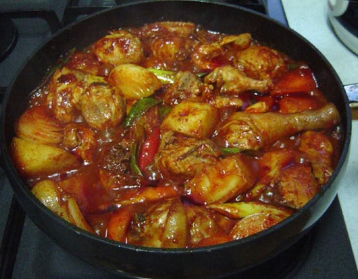 מתכון תבשיל עוף וירקות