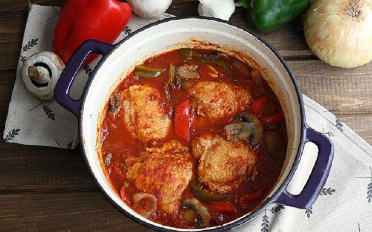 מתכון לתבשיל עוף ברוטב עגבניות