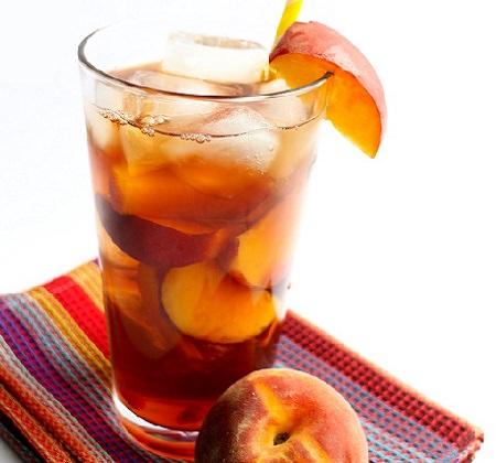 מתכון לתה אפרסקים קר