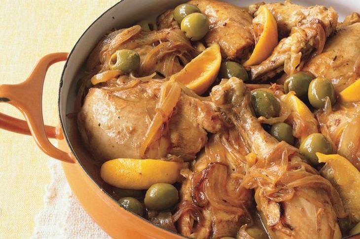מתכון לתבשיל עוף לימוני עם זיתים